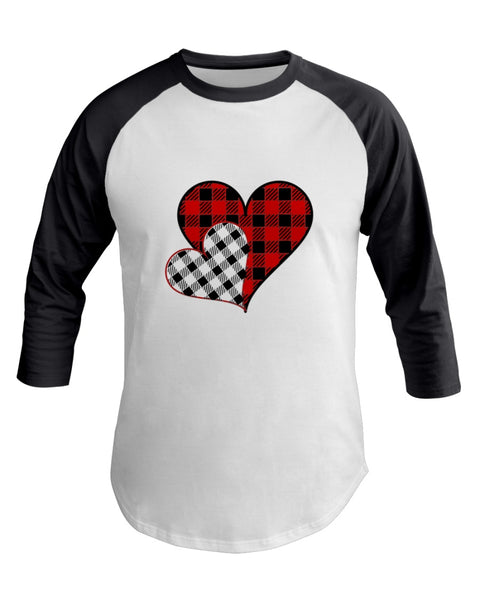 Valentines Day - two Heats Plaid