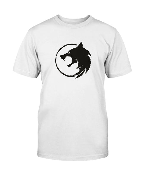 Witcher Wolf Head Black on White