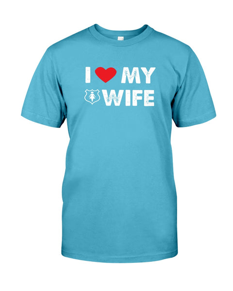 I love MY WIFE Canvas Unisex T-Shirt