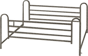 Standard Full-Lenght Bed Rails, Brown-Vein Finish