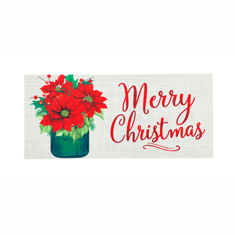 Poinsettia Mason Jar Sassafras Switch Mat