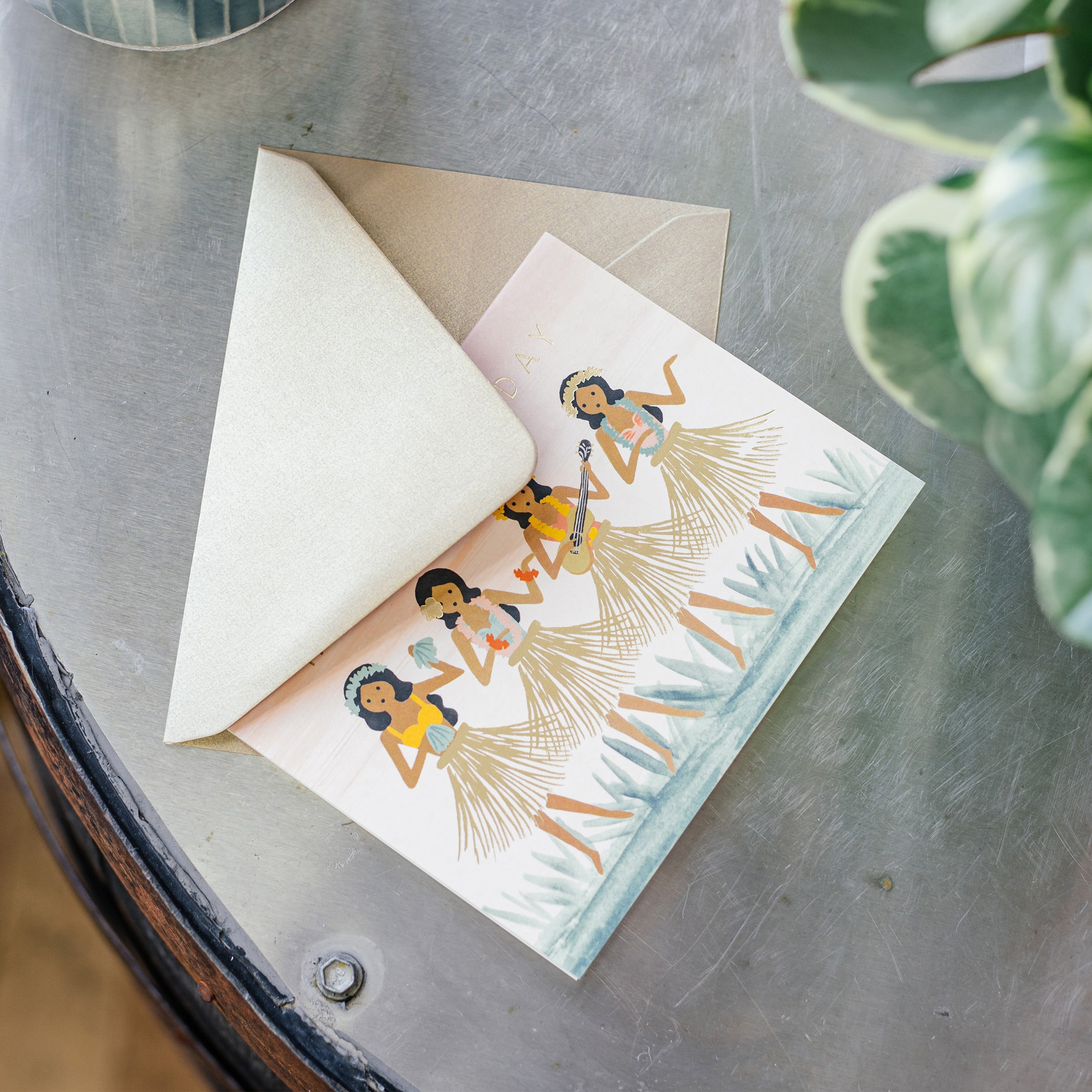 'Hula' Birthday Card — The Tetley Shop