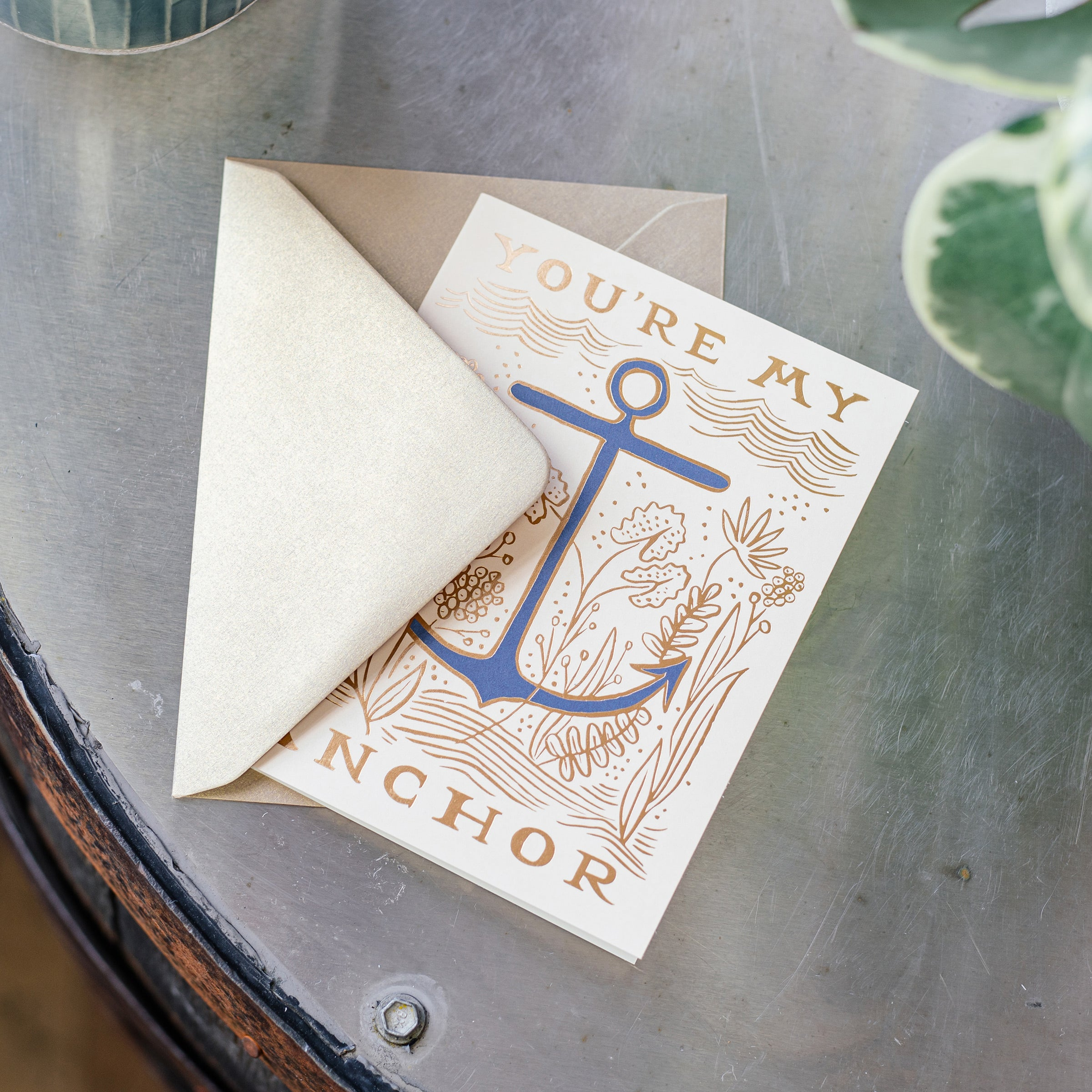 'You're My Anchor' Greetings Card — The Tetley Shop