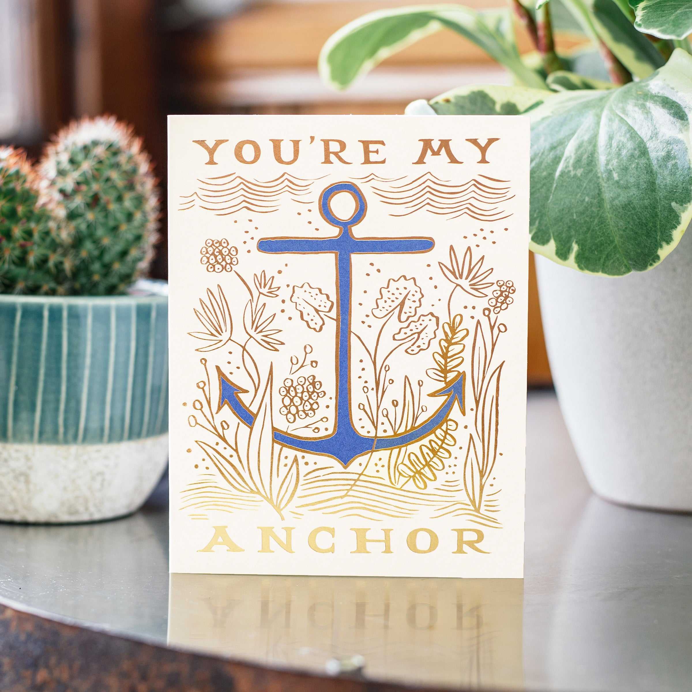 Rifle Paper Co. 'You're My Anchor' Greetings Card — The Tetley Shop