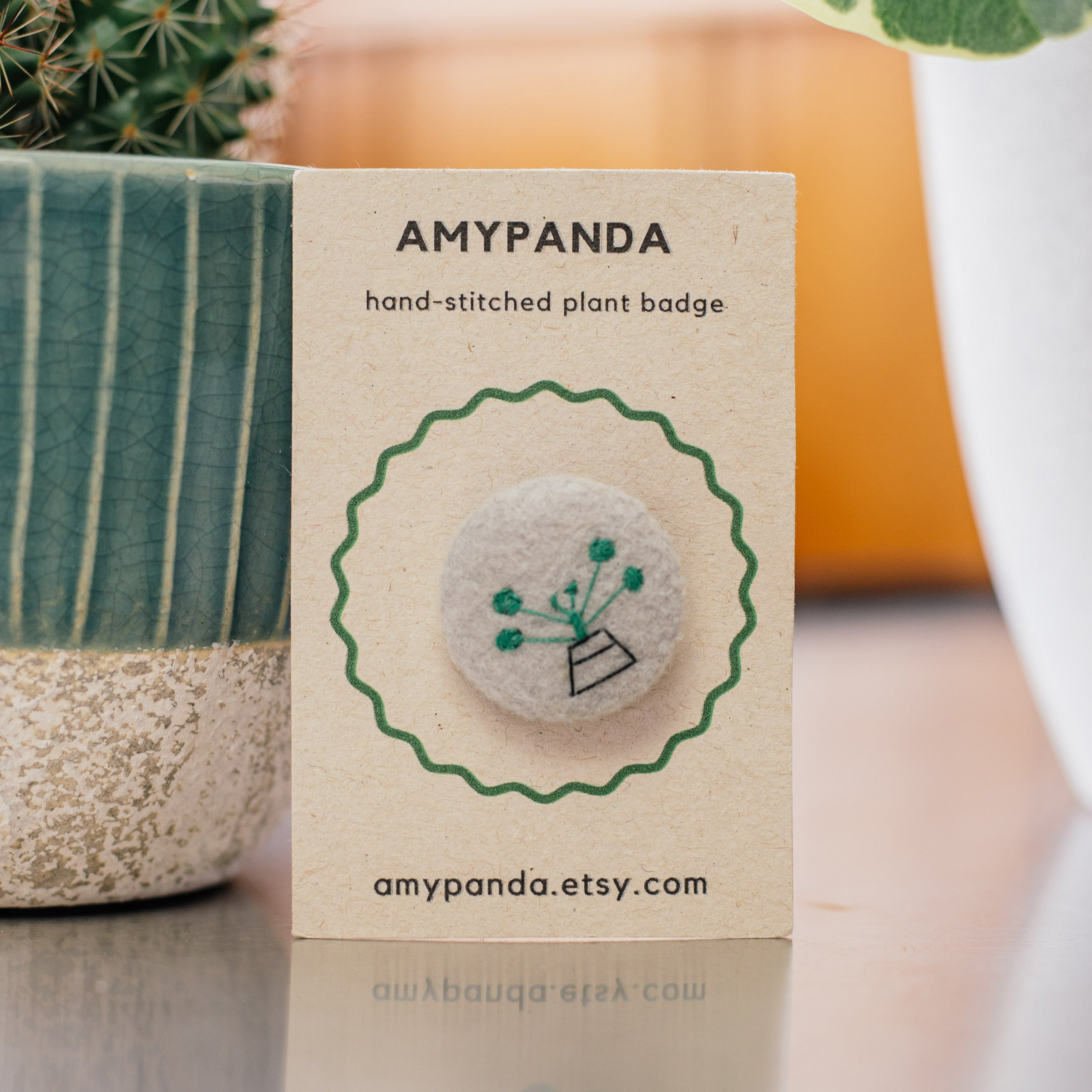 AmyPanda Hand-stitched Plant Badge — The Tetley Shop