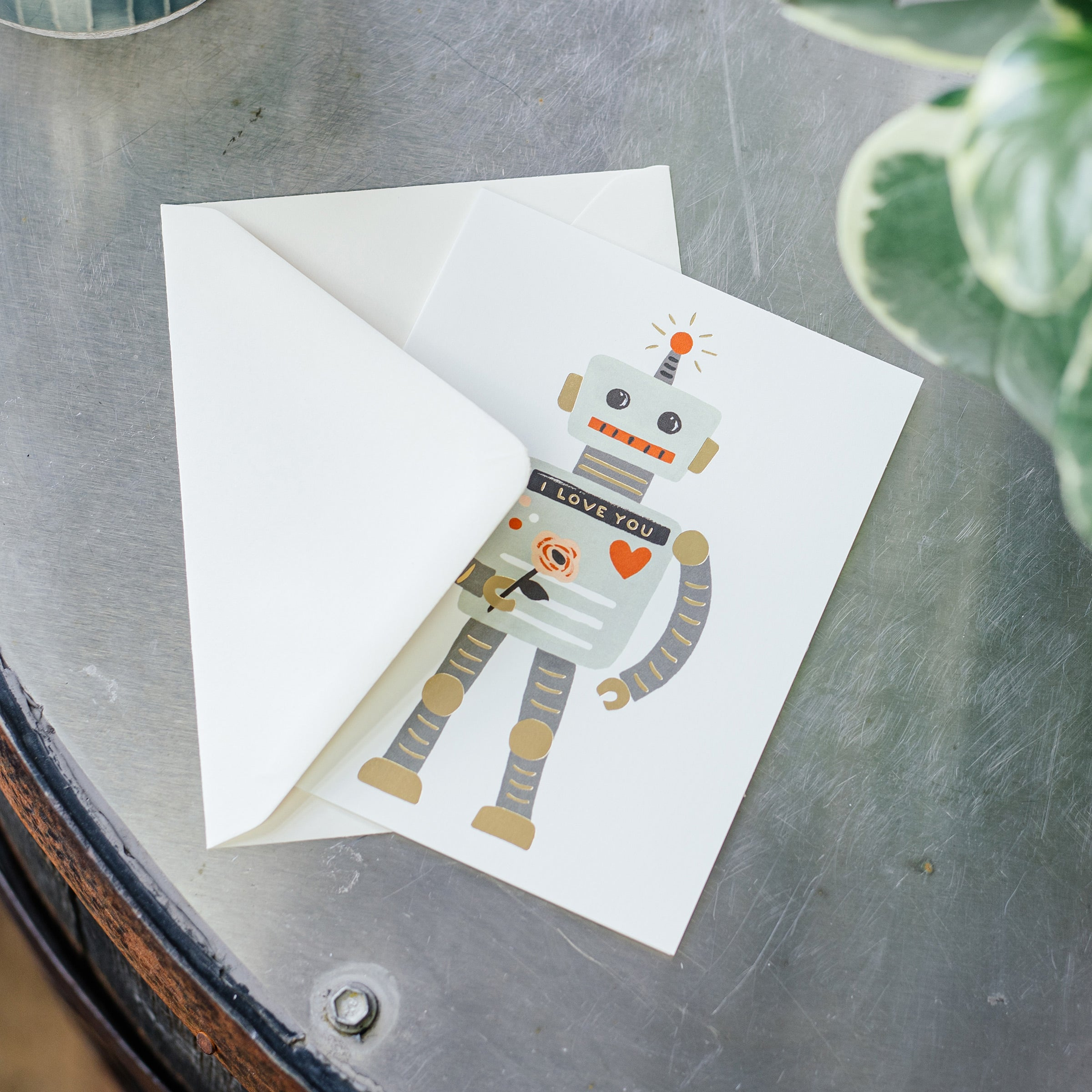 'Love Robot' Greetings Card — The Tetley Shop