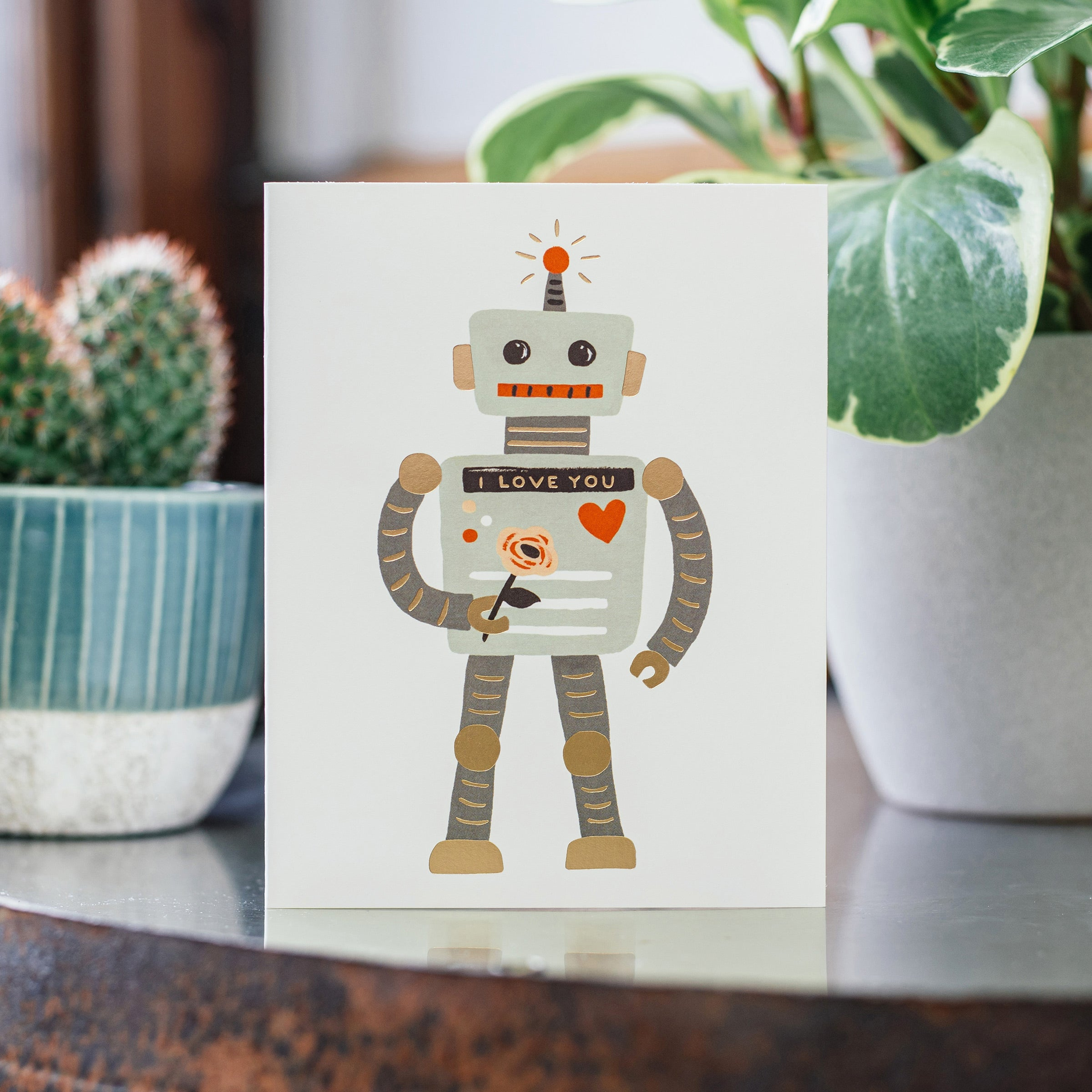 Rifle Paper Co. 'Love Robot' Greetings Card — The Tetley Shop