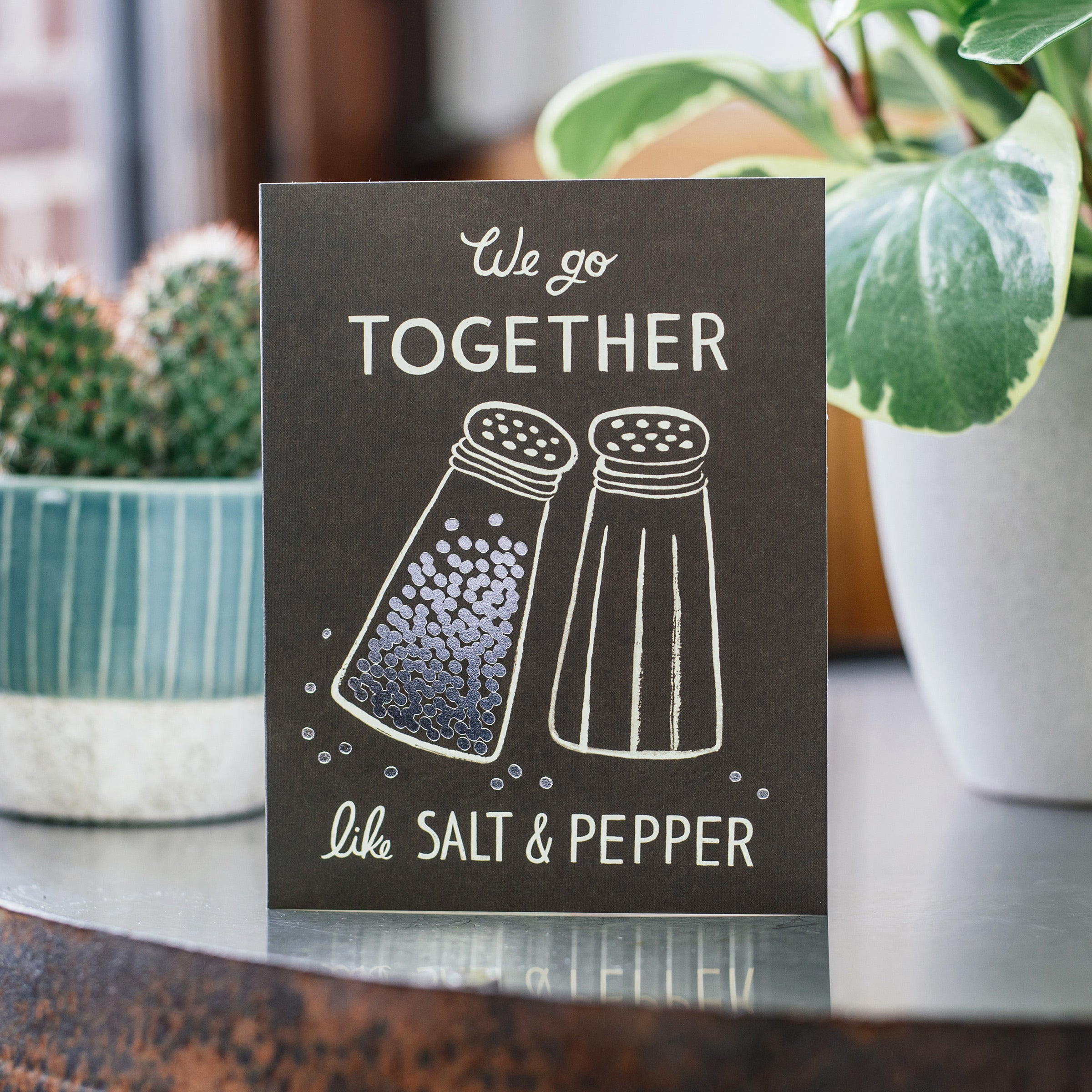 'Salt and Pepper' Greetings Card — The Tetley Shop
