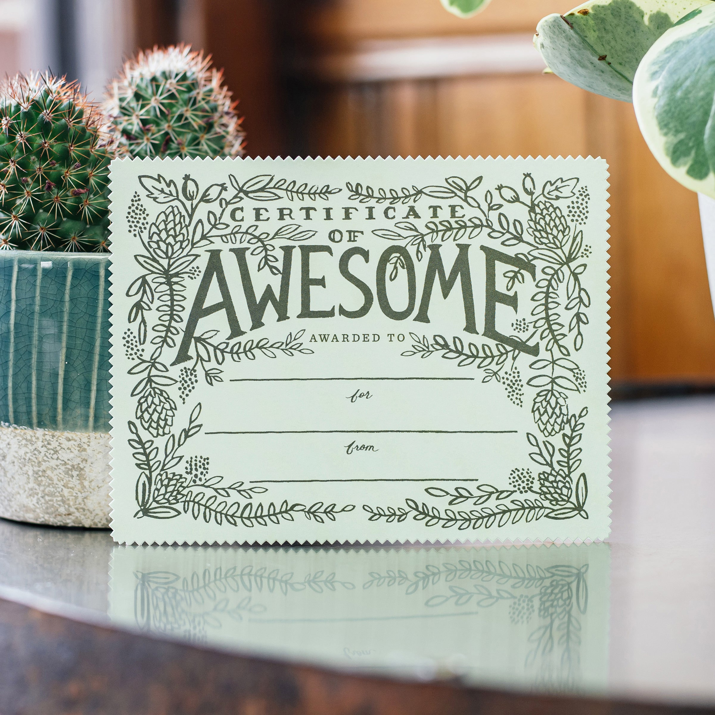 Rifle Paper Co. Certificate of Awesome Card — The Tetley Shop