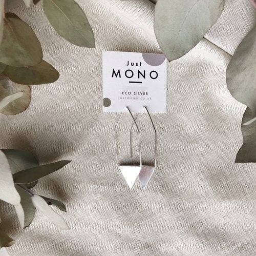 Just MONO Triangle Drop Threader Earring — The Tetley Shop