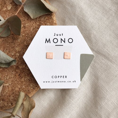 Just MONO Mini Square Studs — The Tetley Shop