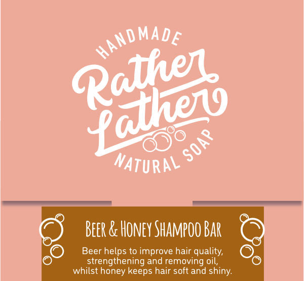 Rather Lather Beer & Honey Shampoo Bar — The Tetley Shop