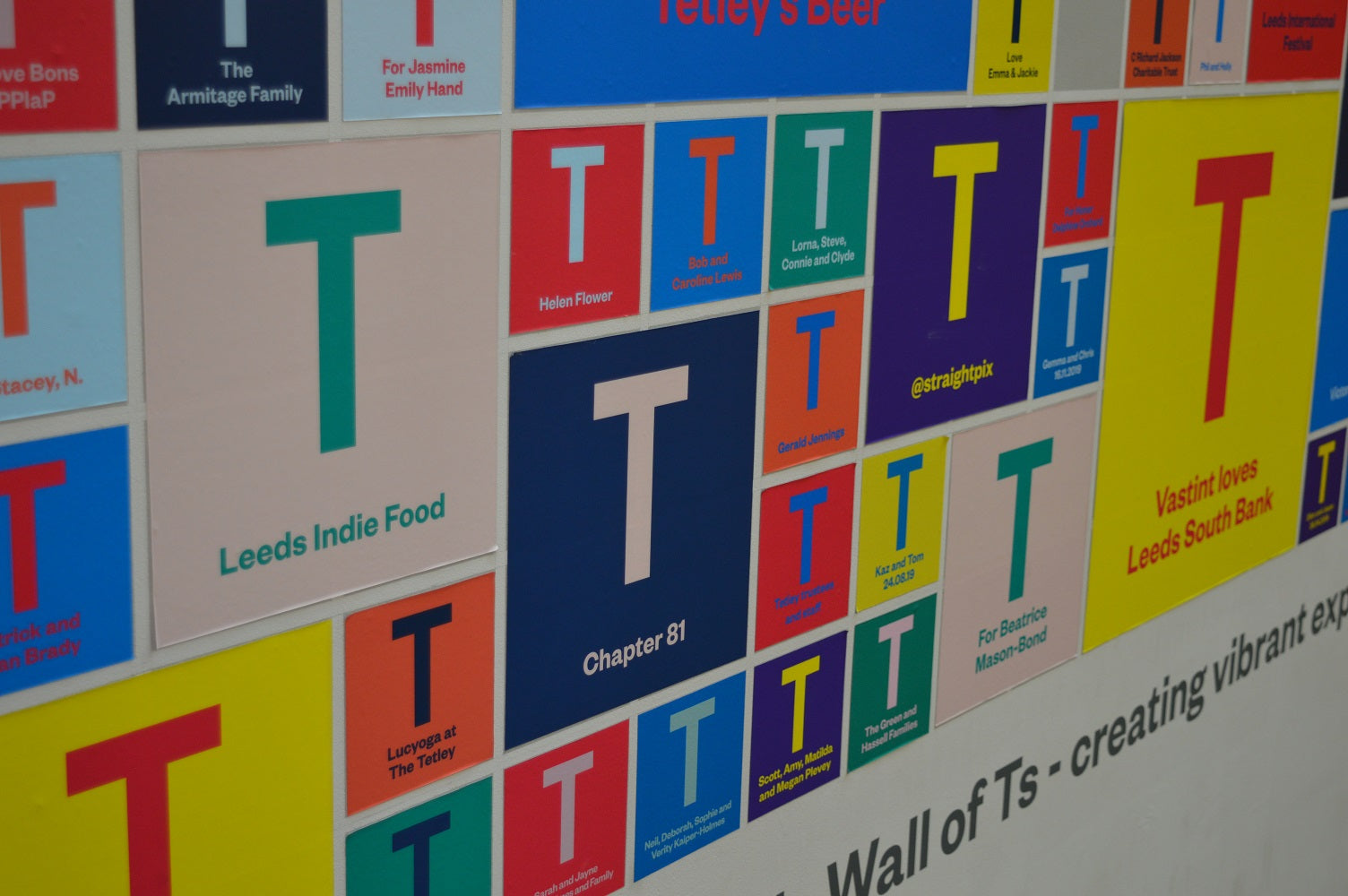 Wall of T — The Tetley Shop