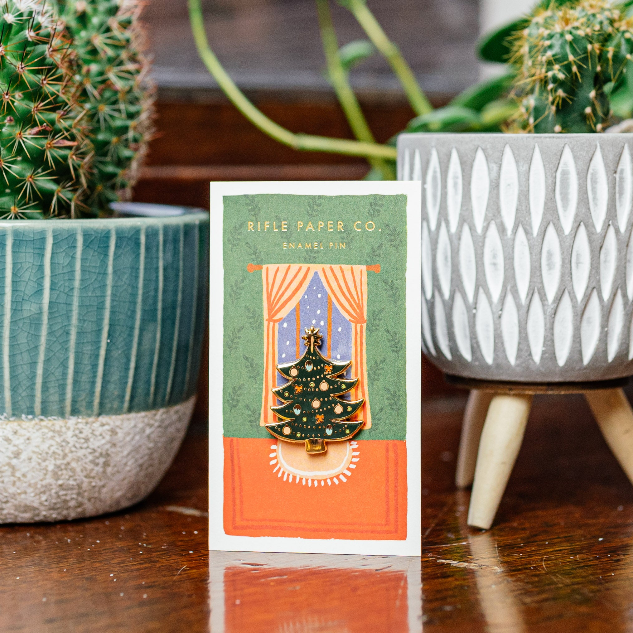 Christmas Tree Enamel Pin — The Tetley Shop