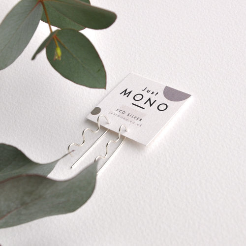 Just MONO Mini Squiggle Threader Earrings — The Tetley Shop