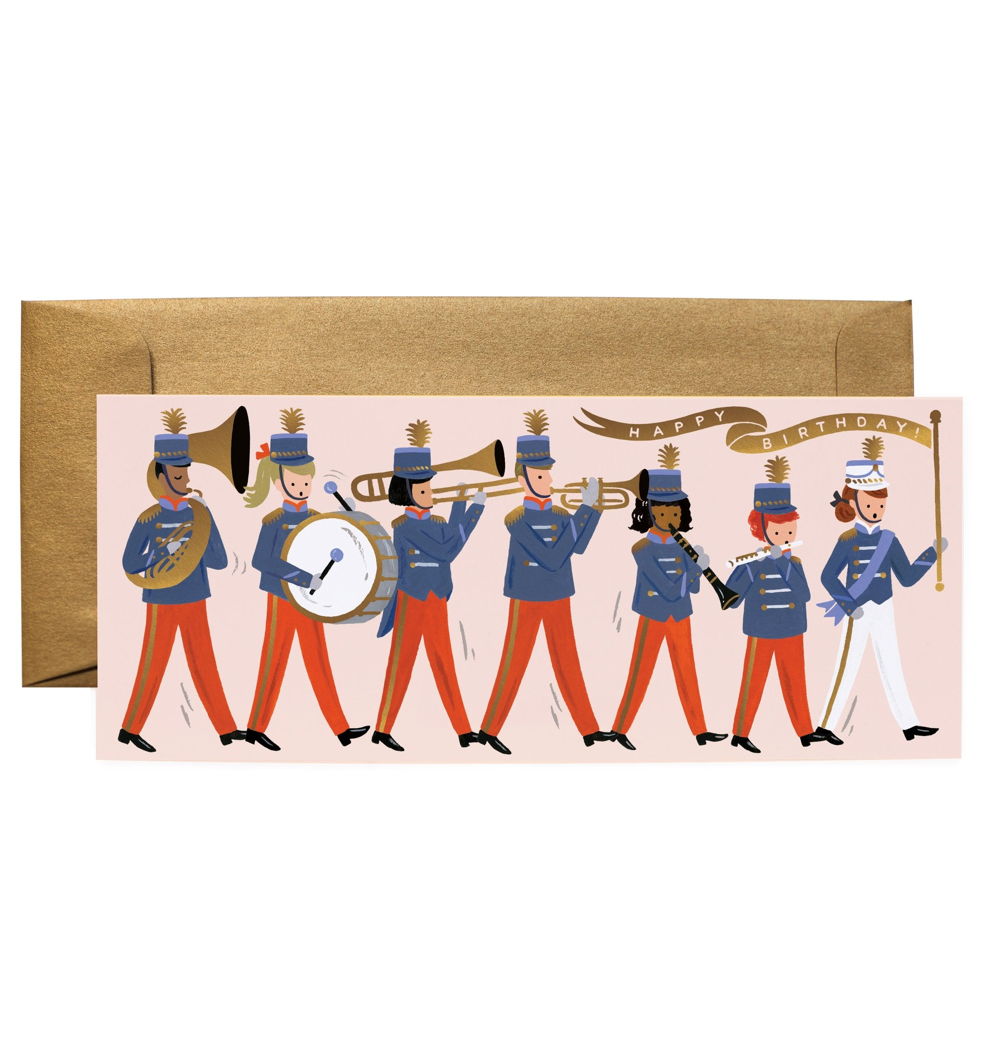 'Marching Band' Greetings Card — The Tetley Shop