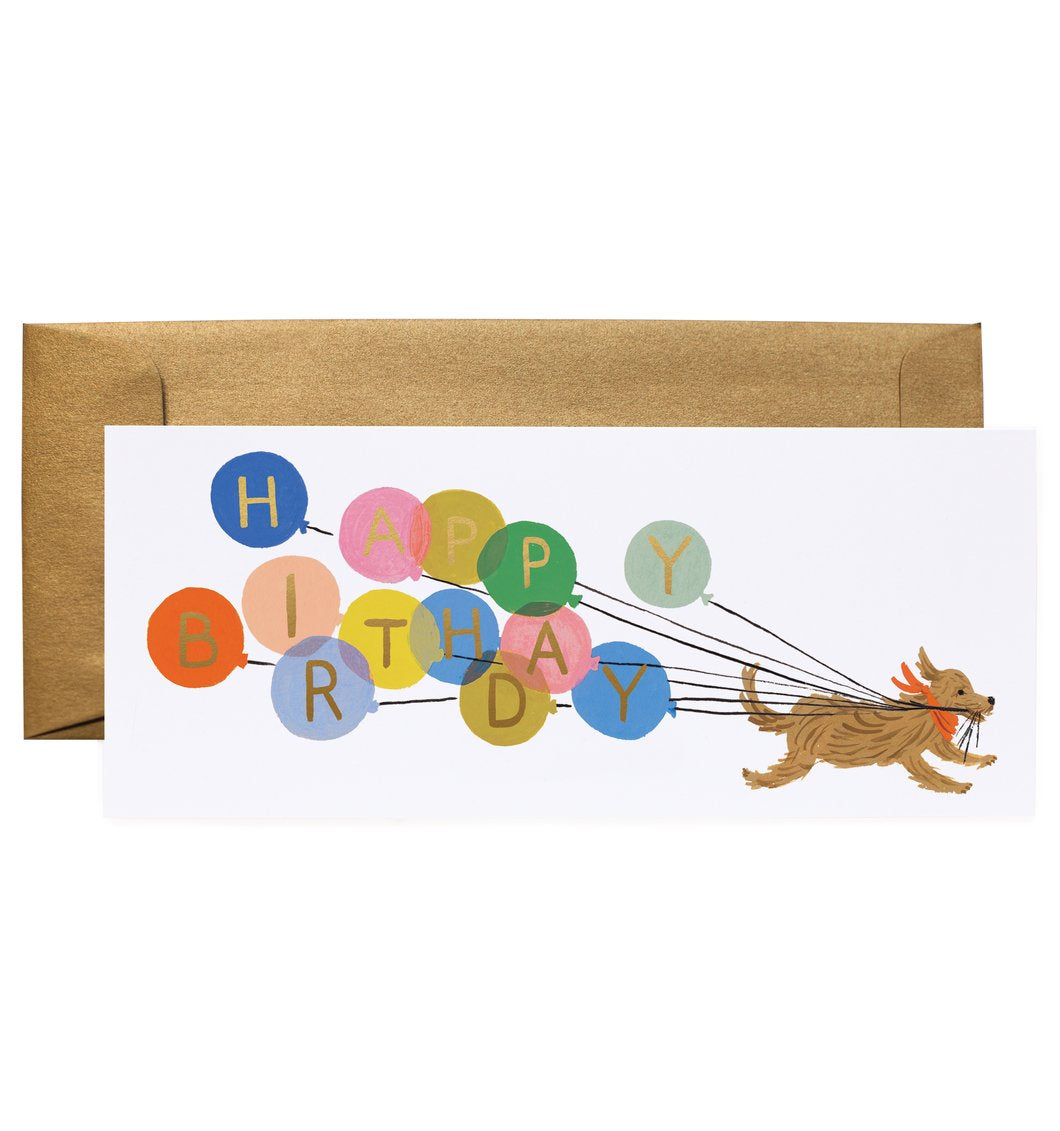 'Balloon Birthday' Greetings Card — The Tetley Shop