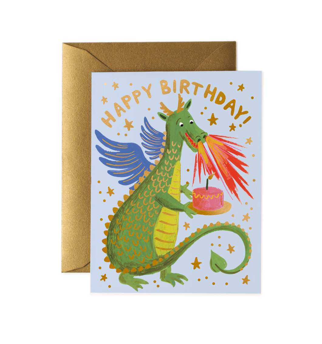 'Birthday Dragon' Greetings Card — The Tetley Shop