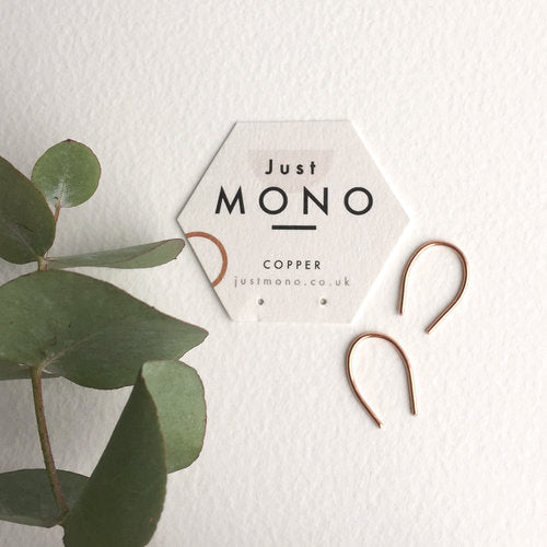 Just MONO Mini Loop Threader Earrings — The Tetley Shop