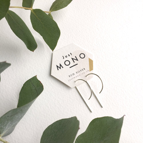 Just MONO Mini Half Hoop Threader Earrings — The Tetley Shop