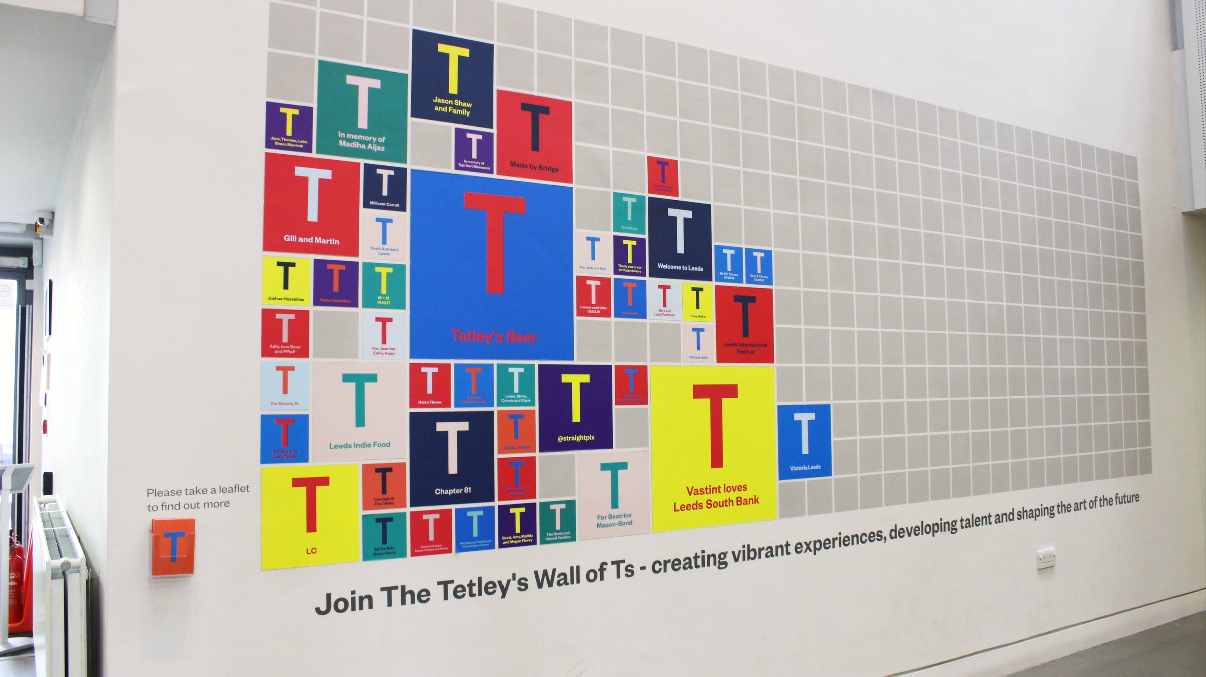 Wall of Ts Square — The Tetley Shop