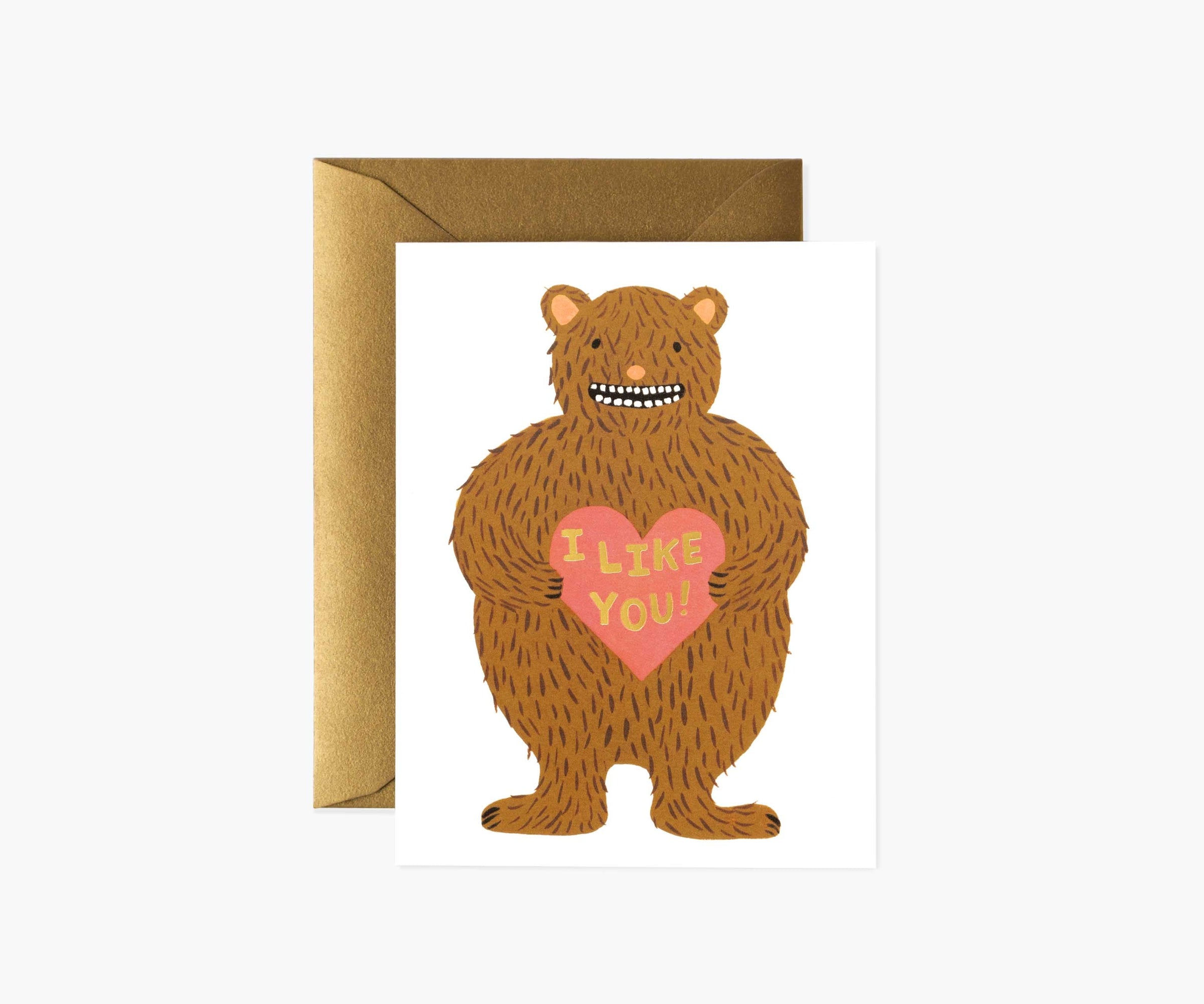 'I Like You' Greetings Card — The Tetley Shop
