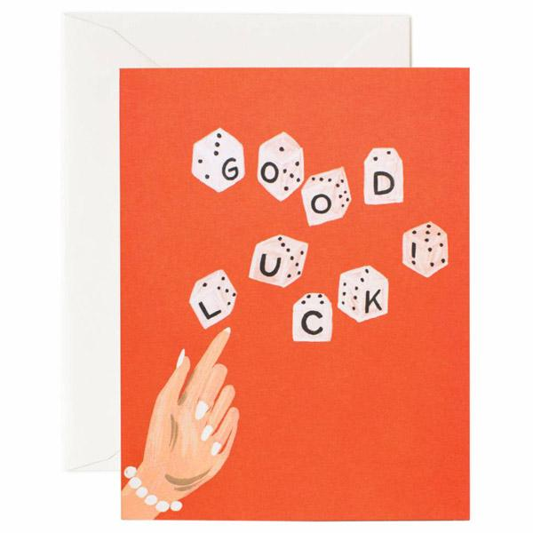 'Lucky Dice' Greetings Card — The Tetley Shop