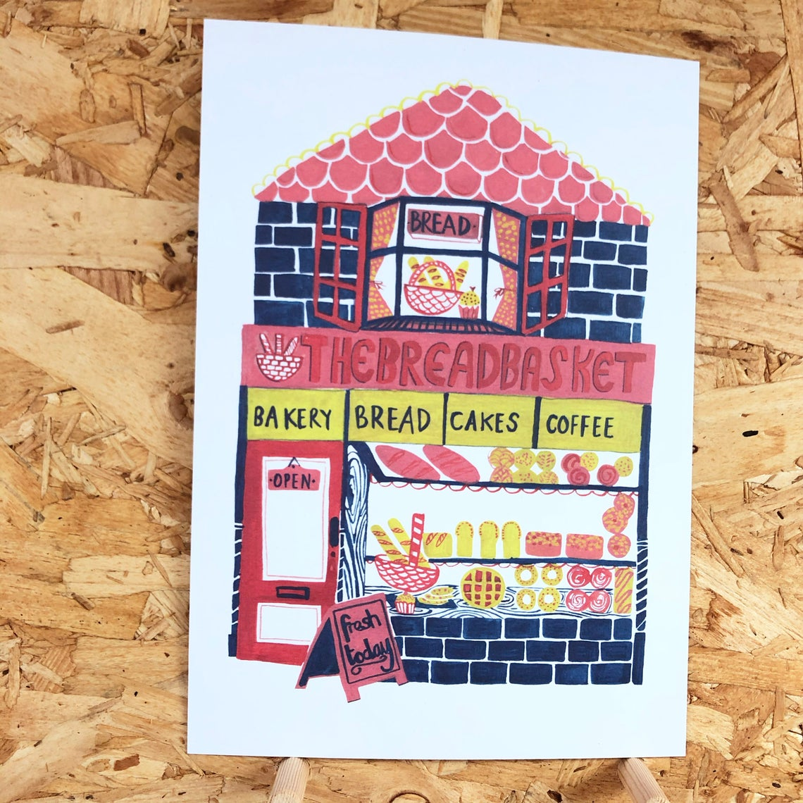 The Smallish House 'Bakery' Print — The Tetley Shop