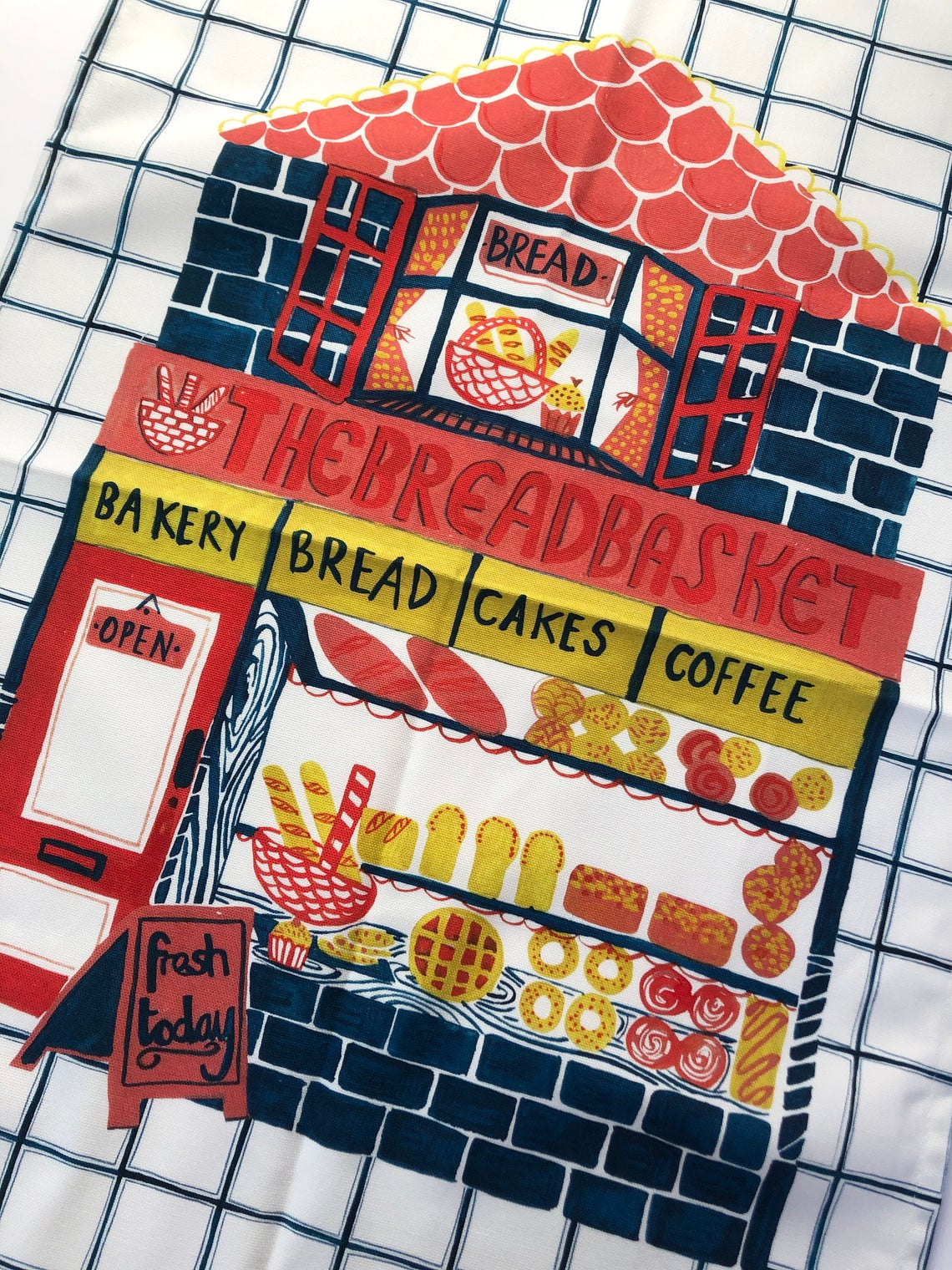 The Smallish House 'Bakery' Tea Towel — The Tetley Shop