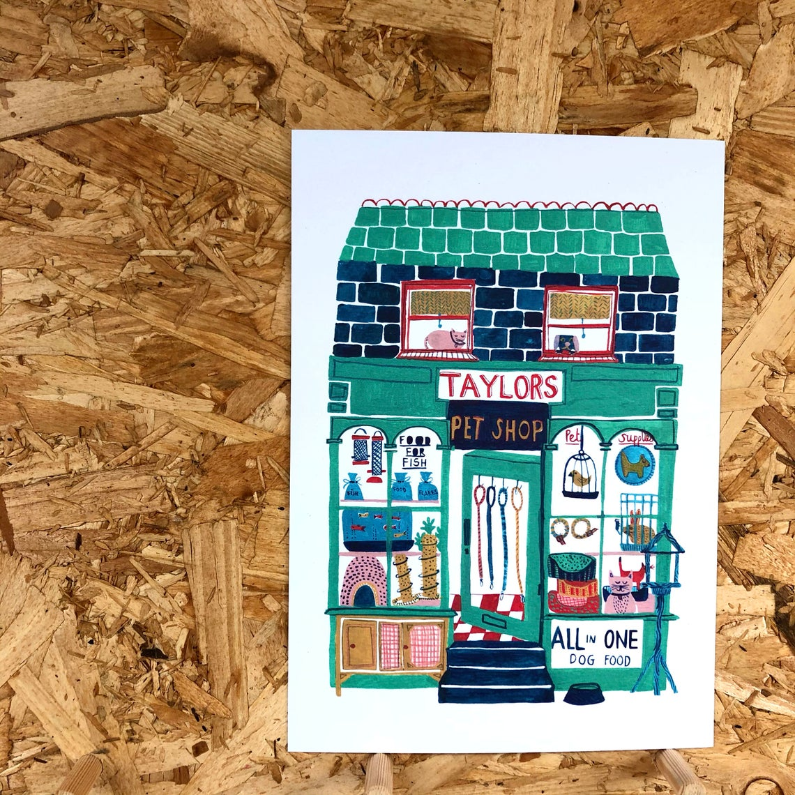 The Smallish House 'Pet Shop' Print — The Tetley Shop