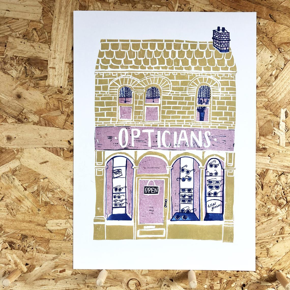The Smallish House 'Opticians' Print — The Tetley Shop