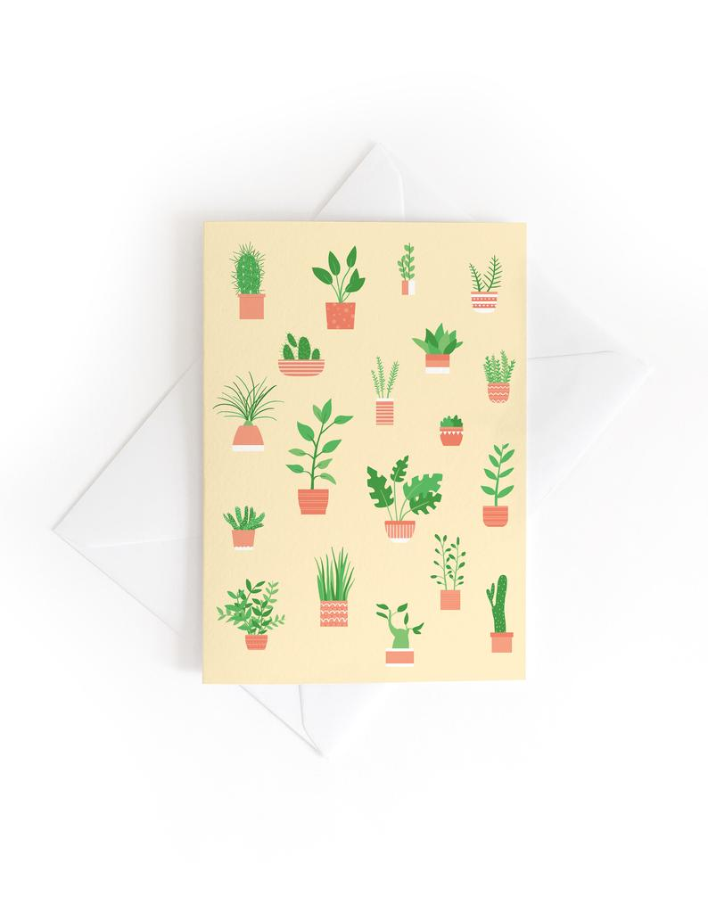 Tom Hardwick 'Houseplants' Greetings Card — The Tetley Shop