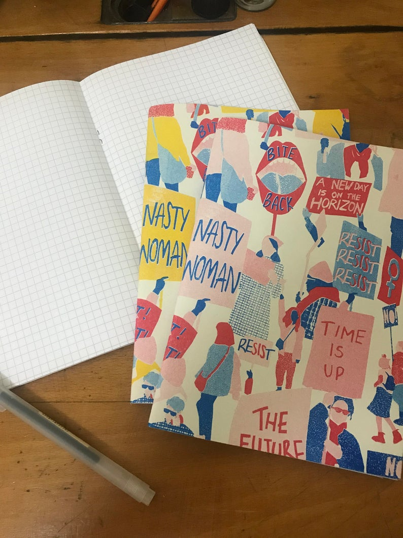Lorna Robey 'Women's March' Notebook — The Tetley Shop