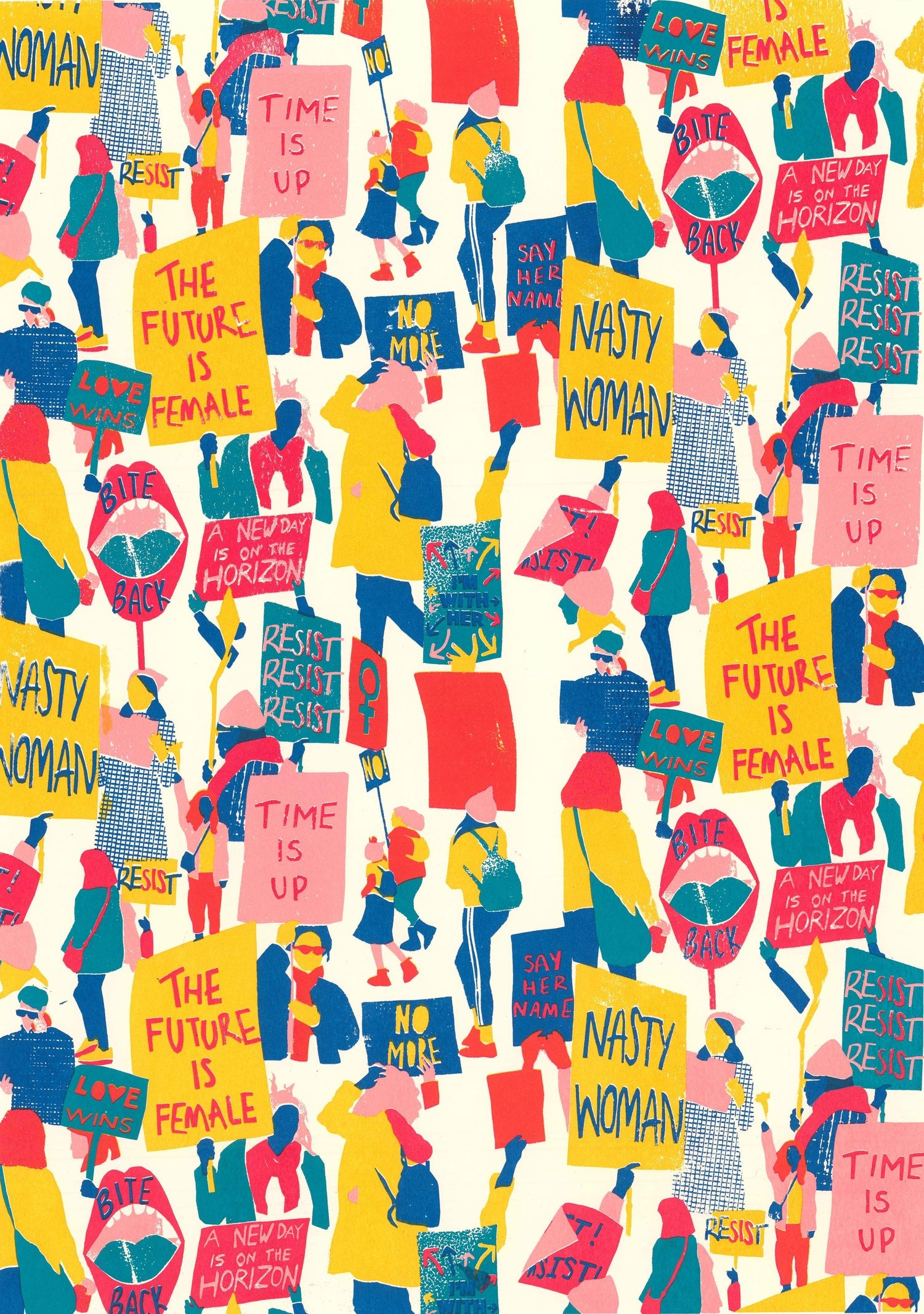Lorna Robey 'Women's March' A3 Print — The Tetley Shop