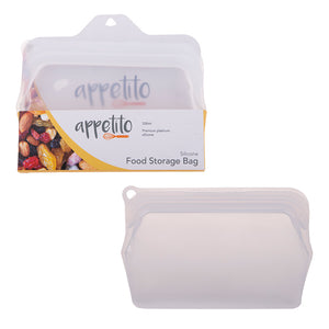 Appetito Silicone Food Storage Bag Clear 330ml