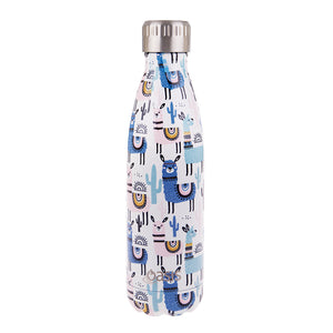 Oasis 500ml Insulated S/S Water Bottle Llamas