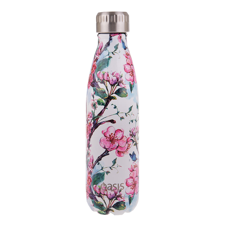 Oasis 500ml Insulated S/S Water Bottle Spring Blossom