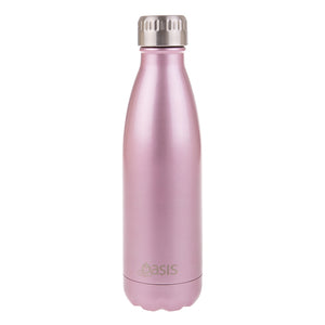 Oasis 500ml Insulated S/S Water Bottle Blush