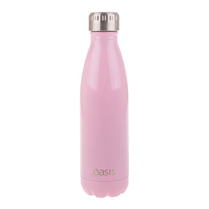 Oasis 500ml Insulated S/S Water Bottle Soft Pink