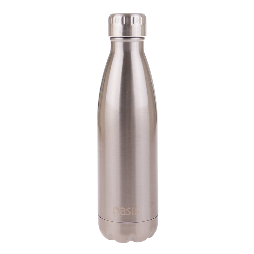 Oasis 500ml Insulated S/S Water Bottle Silver