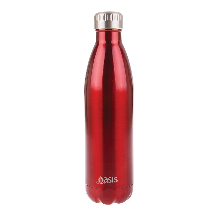 Oasis 750ml Insulated S/S Water Bottle Red
