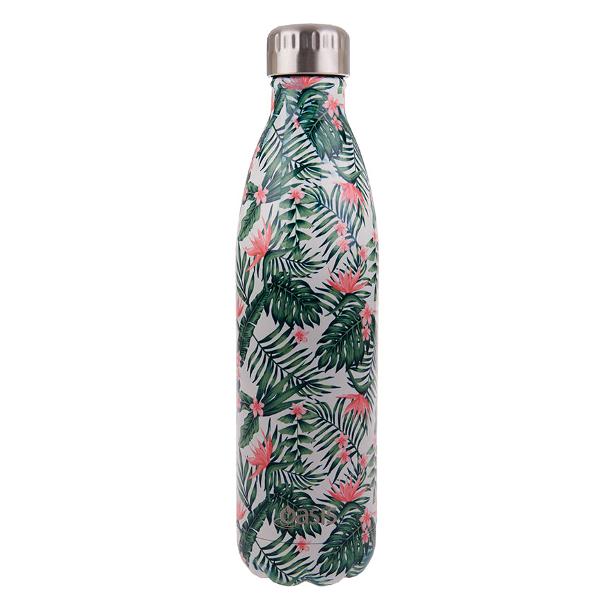 Oasis 750ml Insulated S/S Water Bottle Birds of Paradise