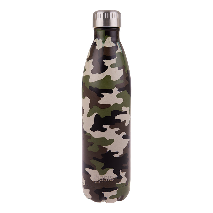 Oasis 750ml Insulated S/S Water Bottle Camo