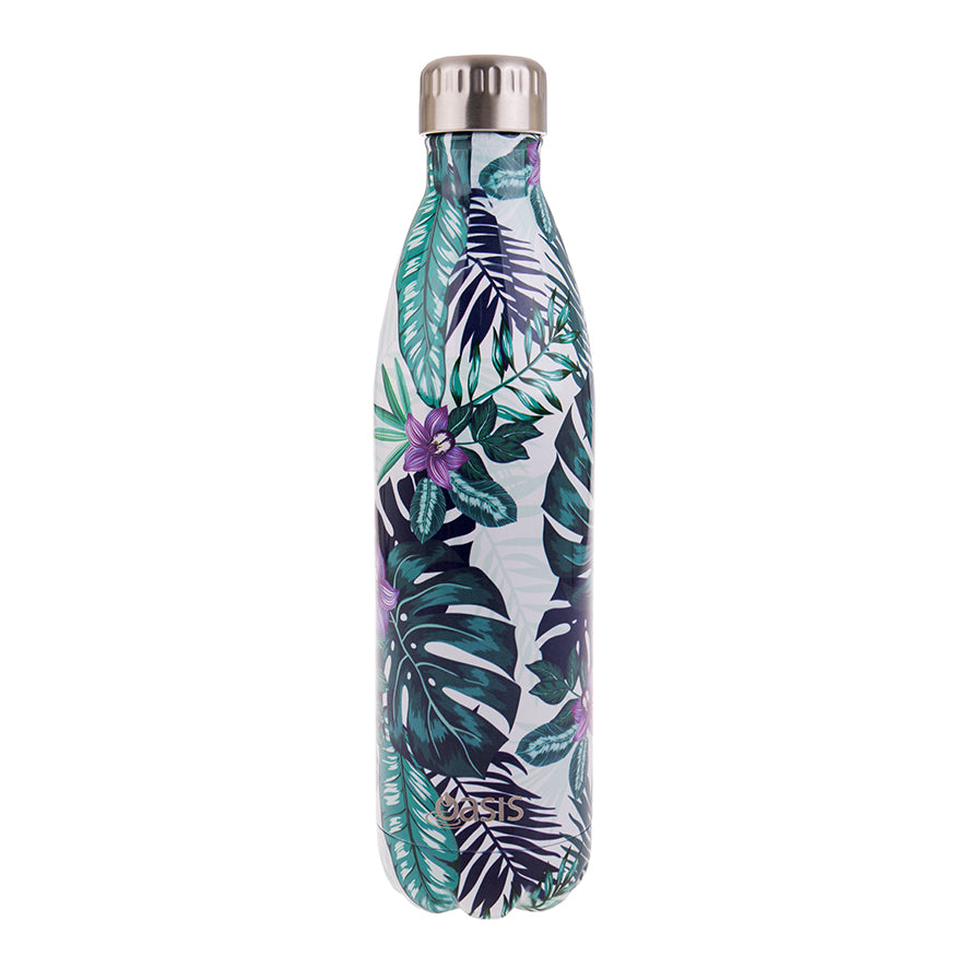 Oasis 750ml Insulated S/S Water Bottle Tropical Paradise