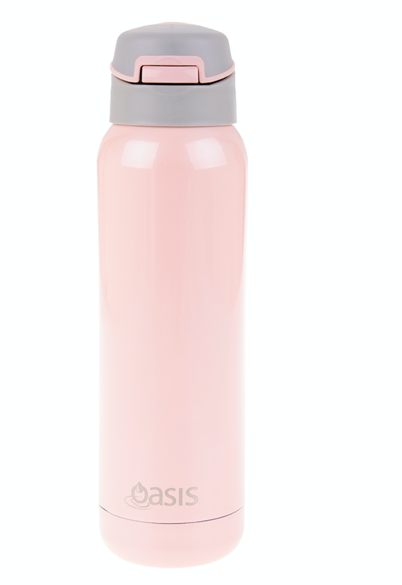 Oasis 500ml Insulated Bottle W/Straw Soft Pink