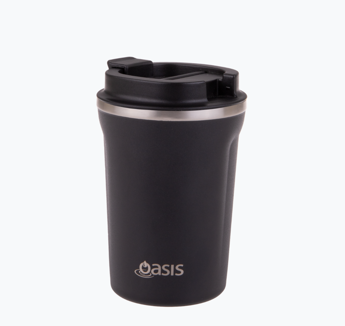 Oasis 380ml Insulated Coffee Cup Black