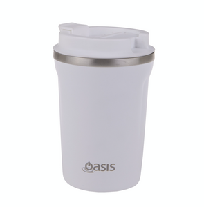 Oasis 380ml Insulated Coffee Cup White