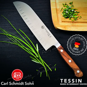 Tessin Santoku Knife with Walnut Handle 18cm