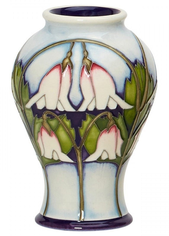 Moorcroft Twinflower Vase 65/4 - Numbered