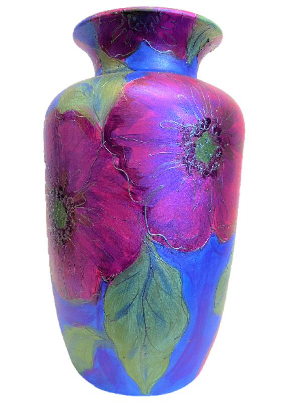 "Anita Harris Art Pottery Silk Anemone Flared Rim Vase - ""One Off"""